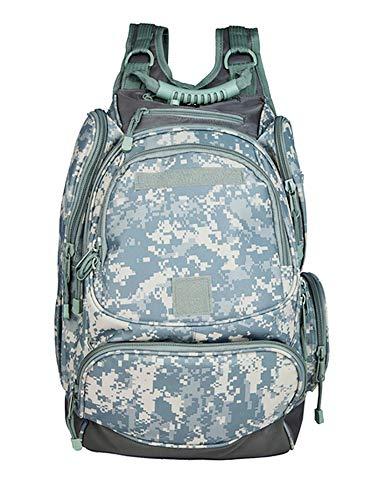 Tanner+Tailor Premium Herren Outdoor Rucksack mit Laptop-, Trinkblase- und Musikplayer-Fach, Militär Rucksack, Trekkingrucksack, Wanderrucksack, wasserdicht, ACU Camouflage