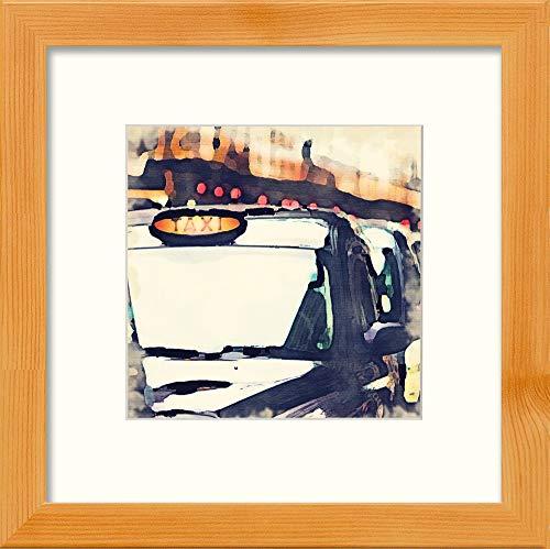 L Lumartos London Taxi Hedendaagse Huisdecoratie Muurdecoratie Aquarel Print
