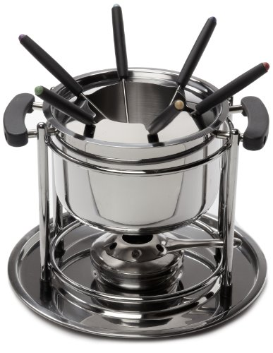 ExcelSteel 527 Fondue Set, 11 piece, Stainless Steel