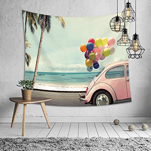 rkmaster-Seaside landschap wandtapijt opknoping bohemian stijl decoratieve tapijt muur opknoping zee bus reizen strand wandtapijt tapijt tapijt | wandtapijt