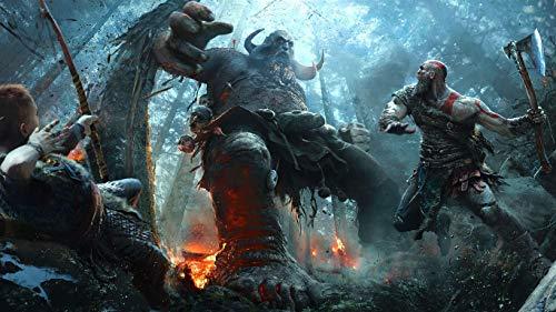 1000 rompecabezas de madera, juegos educativos de God of War Kratos para niños, desafían la inteligencia, desarrollan la coordinación ocular