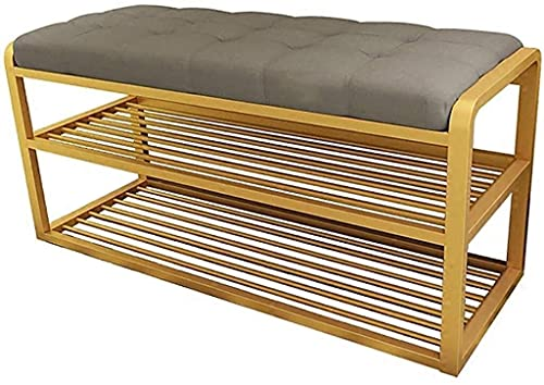 XIAOZHEN Reposapiés otomano plegable de metal para almacenamiento, taburete largo para cama, taburete para cambiar zapatos, taburete otomano (color: blanco, tamaño: 80 x 35 x 45 cm)