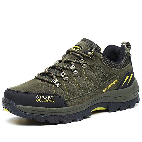 FZUU Unisex Wanderschuhe Trekking Schuhe Herren Damen Sport Outdoor Klettern Sneaker (44 EU, s367-Grün)