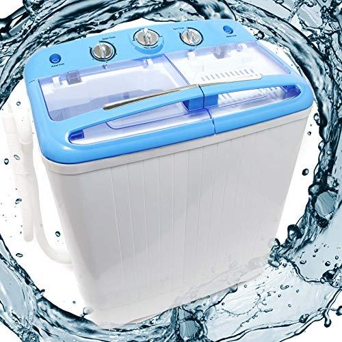 Wiltec Camping Waschmaschine für bis zu 5,2 kg für Normalwäsche und Feinwäsche, mit Schleuderfunktion