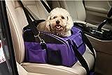 BabycarePro Transportín para Perro Gato Portador para Coche Bolso Plegable para Mascotas, Violeta