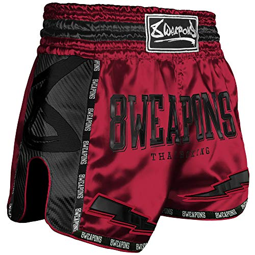 8 Weapons Shorts, Carbon, Red Dawn rot, L