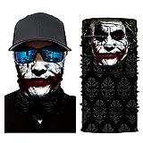 Multifunktionstuch Herren Sport, Damen Männer Horror Clown Joker Haha Skull 3D Druck Motorrad Face...