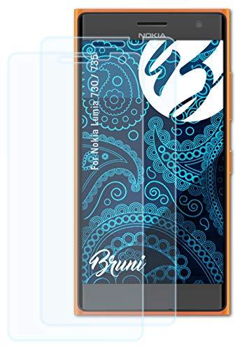 Bruni Schutzfolie kompatibel mit Nokia Lumia 730/735 Folie, glasklare Bildschirmschutzfolie (2X)