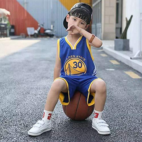 HONGMEI Chicos Chicas Camiseta de Baloncesto Chaleco Pantalones Cortos Set#23 Lakers James Uniform 24 Bryant Warriors# 30/#11 Warriors Golden State,024,XL
