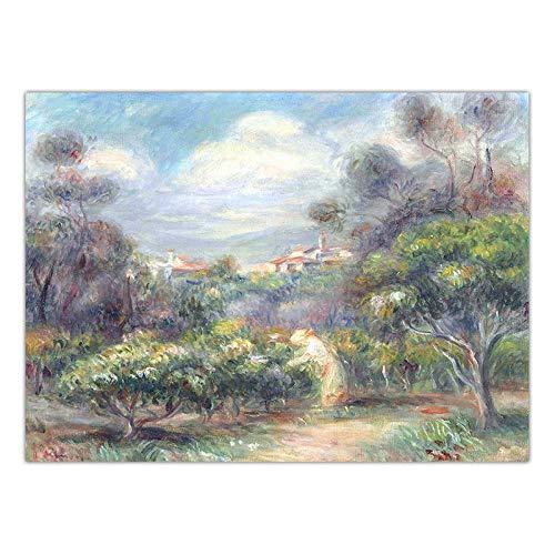 Zyf huisdecoratie, kunst, wandafbeelding, voor de woonkamer, druk op canvas, Franse stenen, August Renoir OLI schilderijen zonder lijst, K01849_21 x 30 cm
