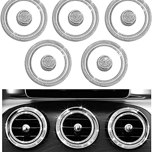 YFBB 15 Tapas de ventilación de CA de Cristal Bling, para Mercedes Benz Clase C AMG GLC, embellecedor de Aire Acondicionado, calcomanía para Cubiertas