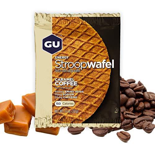 GU Energy Gofre de Café Caramelo - Paquete de 16 x 32 gr - Total: 512 gr
