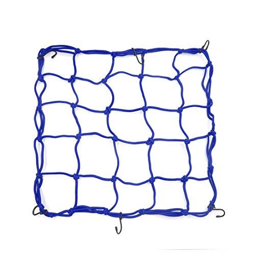 sourcing map 1 Stück 40x40cm Blau Bungee Helm Cargo Gepäcknetz Waren Net für Auto Motorrad
