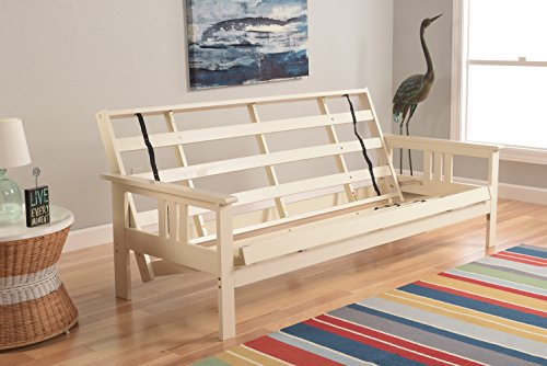 Kodiak Furniture Monterey Futon Frame, No Drawers, Antique White
