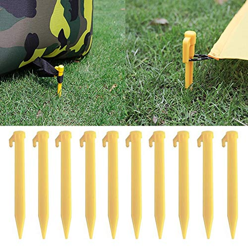 Tent Outdoor Travel Camping Tents Stakes PegsTrip Plastic Heavy Duty Tent Nails Fixing Tent Mat Stake 1 Set(4PCS)