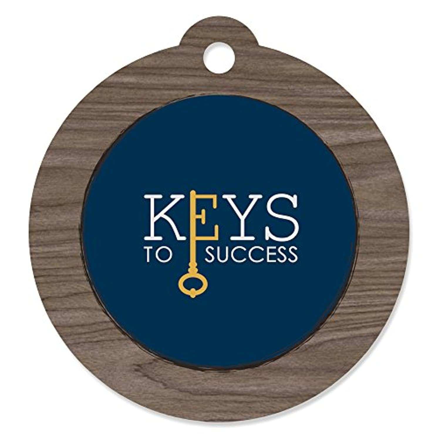 Grad Keys to Success - Graduation Party Favor Gift Tags (Set of 20)