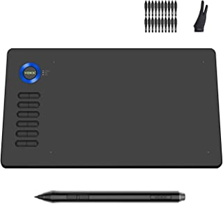 Drawing Tablet VEIKK A15 10x6 inch Graphic Pen Tablet with Battery-Free Passive Stylus and 12 Shortcut Keys (blue)