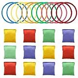 Muka Juego de 24 piezas de 5 cm para carnaval, bolsas de frijoles y anillos para fiestas al aire libre