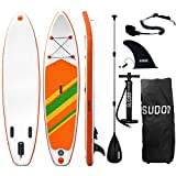 Triclicks Tabla Hinchable Paddle Surf/Sup Paddel Surf con Bomba, Mochila, Aleta Central Desprendible, Kit de Reparación, Remo Ajustable, La Cinta para Atar al Pie(300 * 75 * 15cm-Grosor) (Style 6)