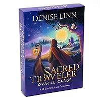 Sacred Traveler Oracle 52カードデッキとガイドブックの英語タロットの楽しいボードゲーム