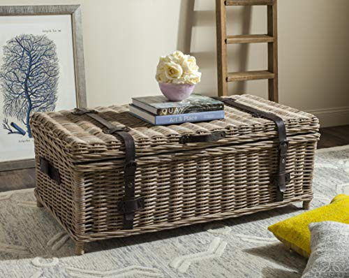 wicker trunk coffee table - 9