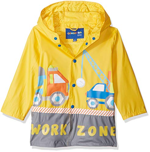 Wippette Boys' Toddler Water Resistant Rain Jacket, Yellow, 4T