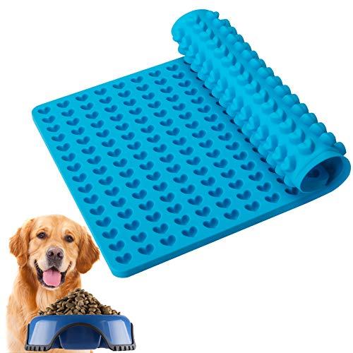 Eruibos Silikon Backmatte, Liebe Silikonmatte mit Noppen - Backform für Hundekekse & Hundeleckerlies, Backpapier, Backunterlage, Pralinenform(BPA-Frei, Blau,40x29cm)