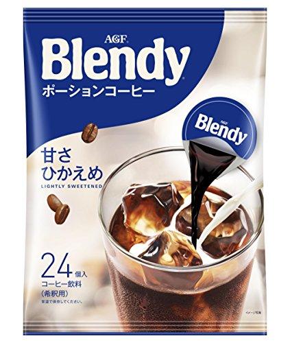 AGF ブレンディ ポーションコーヒー 甘さひかえめ 24個 【 アイスコーヒー 】【 コーヒー ポーション 】