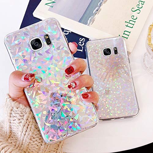 Kompatibel mit Samsung Galaxy S7 Hülle,Handyhülle Galaxy S7 Case,Glänzend Glitzer Bling Pailletten TPU Silikon Hülle Case Tasche Weiche Silikon Rückseite Glitzer Schutzhülle für Samsung Galaxy S7
