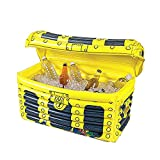 Inflatable Ice Bucket Treasure Box Beer Beverage Cooler Floating Drink Holder For Pool Party Beach Camping,Floating Cooler,60X30X38cm