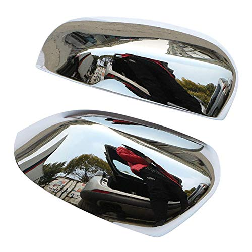 Qind1aS Abs - Fundas de protección para espejo retrovisor para Peugeot 208 2014-2017 Accesorios (plata)
