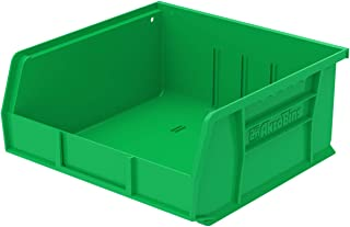 Akro-Mils 30235 Plastic Storage Stacking Hanging Akro Bin, 11-Inch by 11-Inch by 5-Inch, Green, Case of 6