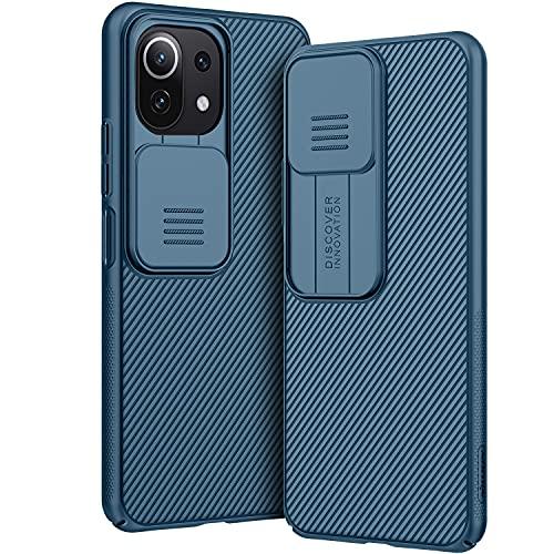 AROYI Coque Compatible avec Xiaomi Mi 11 Lite, Protection de la caméra en PC Dur Coque pour Xiaomi Mi 11 Lite 5G / 4G (2021) 6,55 Pouces - Bleu