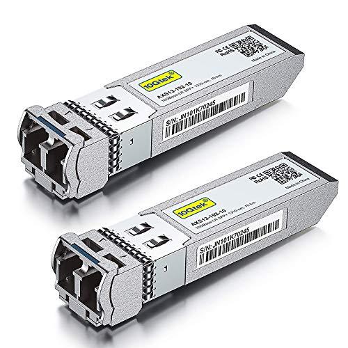 [2 Pack] 10G SFP+ LR Monomodo Transceiver - 10GBase-LR LC Módulo Compatible para Cisco SFP-10G-LR, Meraki MA-SFP-10GB-LR, Mikrotik S+31DLC10D, Ubiquiti, Netgear, Zyxel, Qnap, Synology, D-Link, ect