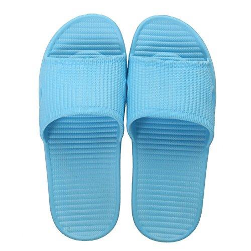 Qsy shoe Bad-Dusche mit dickem Boden und rutschsicheren Hausschuhen, undichte Badewanne, blau, 36/37