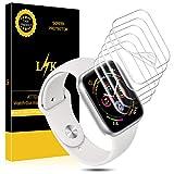 L K 6 Pièces Protection Écran pour Apple Watch 44mm Series 5/4 Compatible 42mm Series 3/2/1, [sans Bulles] [Qualité...