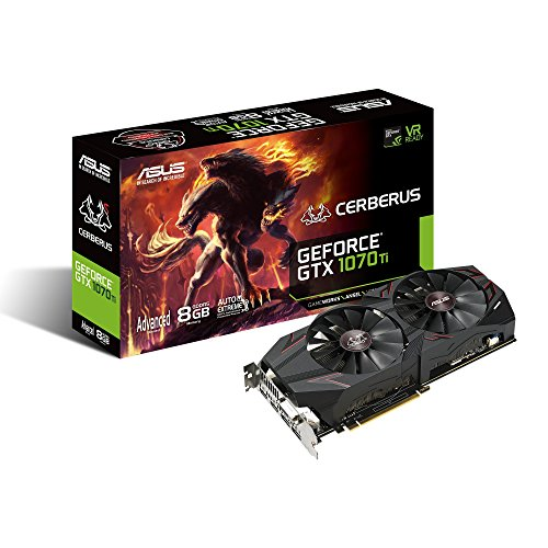 ASUS ROG Strix GeForce GTX 1070 Ti 8GB GDDR5 Advanced Edition VR Ready DP HDMI DVI Gaming Grafikkarte (ROG-STRIX-GTX1070TI-A8G-GAMING) Mehrfarbig One Size