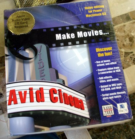 Avid Cinema Mac editing camcorder
