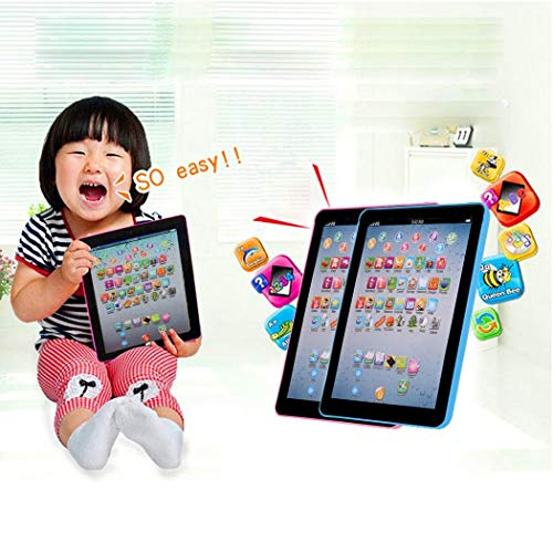 isopeen Kids Learning Pad Toy Pad Computer Tablet Education Learning Education Machine Touch Screen Tab Electronic Systems