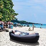 Hamaca Hinchable Hamaca Air, Color Negro Portátil Ideal Para El Sofá Ideal Para La Playa Lakeside Que Viaja Al Aire Libre Camping Picnics Festivales Música Diseño Prueba Agua ( color : Negro )