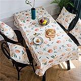 YUNSW Mantel Rectangular de poliéster Mantel nórdico patrón de impresión de impresión Cubierta de Mesa de Comedor para la decoración de la Mesa del hogar