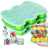 Silicone Ice Cube Trays with Lid - KIPRITII Upgrade 2 Packs Ice Trays Molds with Sealed Lids and...