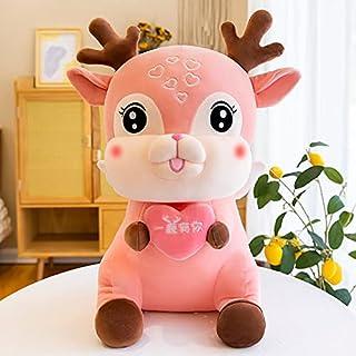 25-95cm Creatieve Oversized Er is Je Leuke Fawn Knuffel Meisje Ragdoll Bed Slapen Kussen Pop 25cm Roze