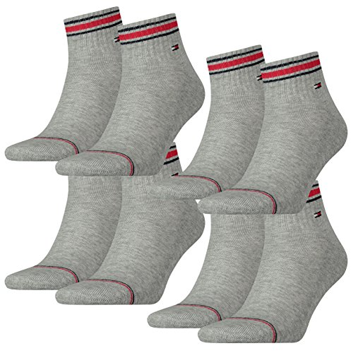 TOMMY HILFIGER Herren Sport Quarters Socken Sportsocken MIT FROTTEESOHLE 4er Pack (ionic tommy original, 39-42)
