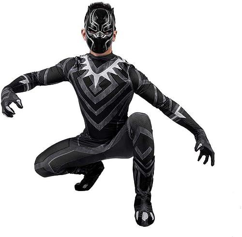 tienda de pescado para la venta Adegk Disfraz De Vengadores Disfraz De La Pantera Negra Negra Negra De Los Vengadores Guerra Cuántica Disfraces Película Cosplay Disfraz,Men-XXL  ventas de salida