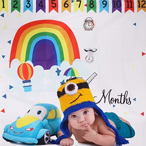 Vivianu Rainbow Baby Photo Fond Photographie Montgolfière Floral Coloré Couverture Couverture Naissance Mignon Décoration Anniversaire Mois Créatif Studio Photo