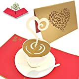 PopLife Coffee Lover 3D Pop Up Card - Mother's Day, Anniversary Gift,...