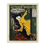 Stupell Industries La Victoria Arduino Cafe Espresso Vintage Inspired Poster Wall Plaque, 13 x 19, Design by Artist VeeBee