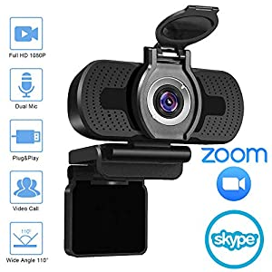 2020 [Upgraded] 1080P Webcam with Microphone & Privacy Cover – NexiGo 110-degree Wide Angle Widescreen USB HD Camera, Plug and Play, Laptop Computer Web Cam for Zoom YouTube Skype FaceTime OBS