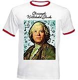 Photo de teesquare1st Men's Christoph Willibald Gluck Composer Tshirt Homme avec Motif/Tshirt Homme/Top Homme/Cadeau pour Les Hommes T-Shirt Size Large
